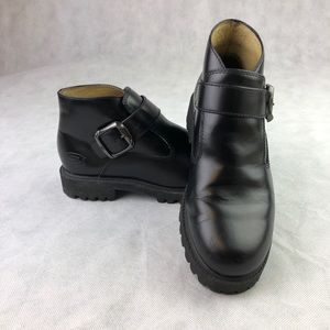 Sketcher Boot Ankle Leather W/ Side Buckle Vintage